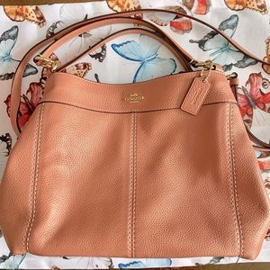 Coach Small Lexy Pebble Petal Pink Leather Handbag
